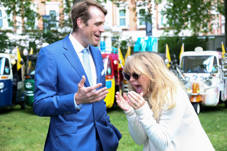 Ben Elliot, Founder, Quintessentially Foundation and Goldie Hawn