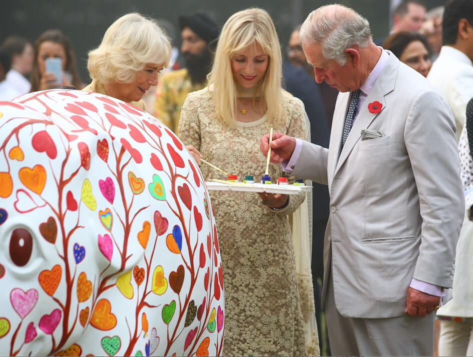 TRH's Prince Charles and The Duchess of Cornwall painting