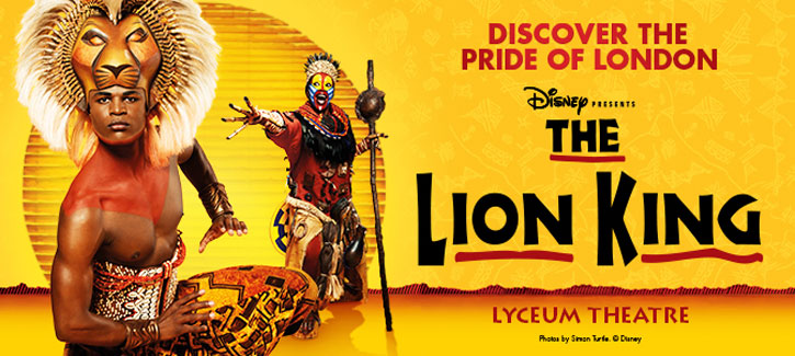 win two tickets to the lion king